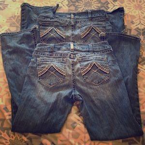2 Pairs of Ariat Jeans 31R